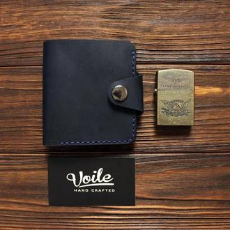 Кожаный бумажник VOILE vl-mw8-blu