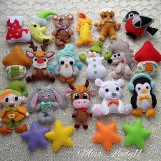Набор ёлочных игрушек (из фетра) 21 шт.