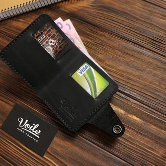 Мужской кожаный бумажник VOILE vl-mw8-blk
