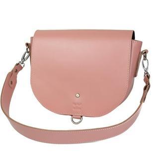 Женская кожаная сумка Ruby L розовая