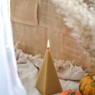 Свічка з натурального бджолиного воску Свеча из пчелиного воска