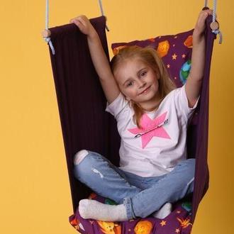 Качели подвесные для детей от 4-5 лет до 12+, гойдалка, качеля