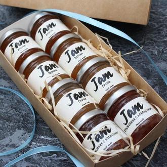 Подарочный набор джема 4 вкуса (в наборе 8 баночек)
