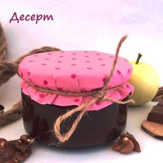 """Десерт """"Сникерс"""" яблоко + шоколад + орех. Мармелад 200 мл"""