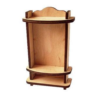 Миниатюрный шкаф открытый, 10,7х6,7х2,8 см, фанера