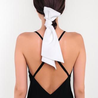 Белая петля Natochka / резинка для волос