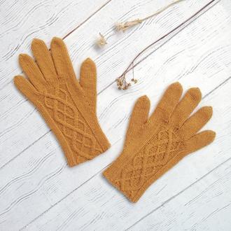 Зимние шерстяные перчатки