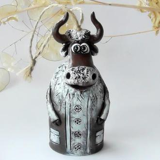 Дзвоник бик сувенір в рік бика