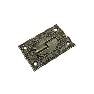 Петля декоративная накладная 36х23мм античная бронза 2 шт.