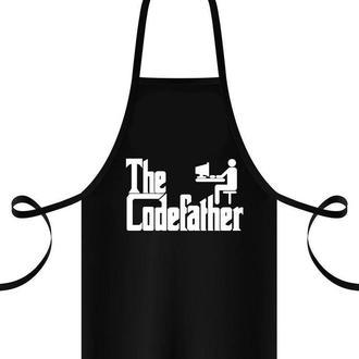 """ФА000144Фартук с принтом """"Codefather"""""""