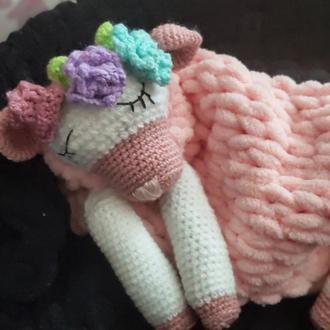 Мягкая Игрушка- Пижамница овечка Айя. Подарок для малыша или девушки