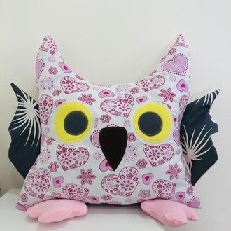 Сова подушка-игрушка для сна-сплюшка-подушки игрушки-декор в детскую