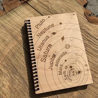 Блокнот с деревянной обложкой  А5