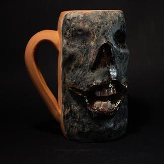Пивная кружка зомби / кружка хеллоуин / керамическая пивная кружка