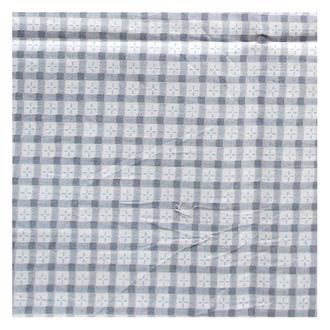 Ткань белая 50х50 см серая клетка