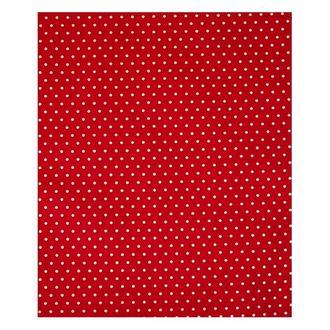 Ткань красная Горошек белый мелкий 50х53 см