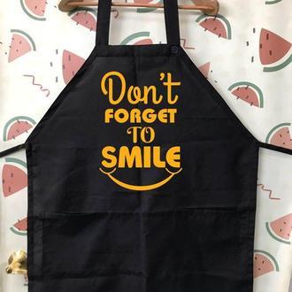 "ФА000153Фартук с принтом ""Dont forget to smile"""