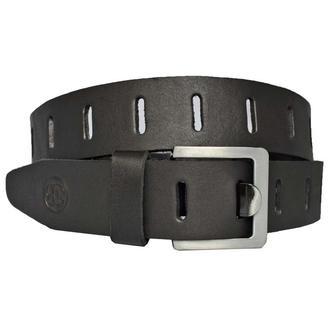 Ideal3 черный кожаный  ремень с перфорацией кожанный пояс кожа