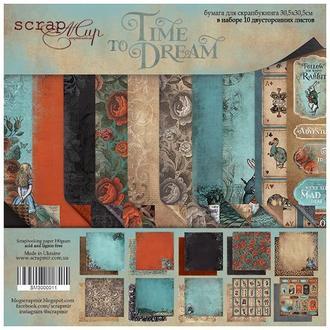 Бумага для скрапбукинга 30х30см Time to Dream 10 листов