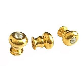 Ручка с камнем, 13х10 мм, золото