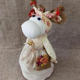 Кукла-мотанка оберег Корова (Коровушка)