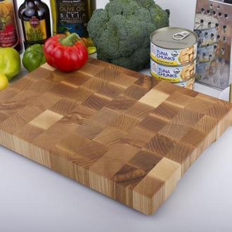Кухонная торцевая разделочная доска LineWood 40х30х4 см из ясеня