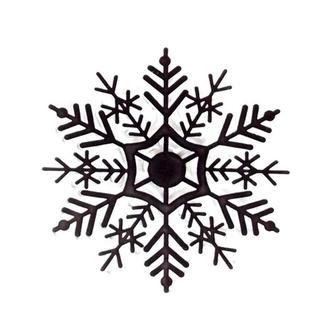 Штамп прозрачный Снежинка большая 3,7 см