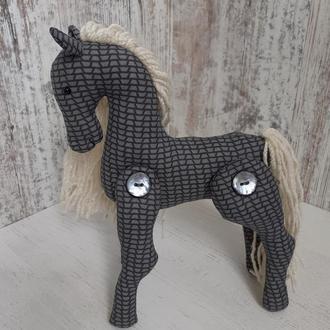 Игрушка мягкая Лошадка из ткани