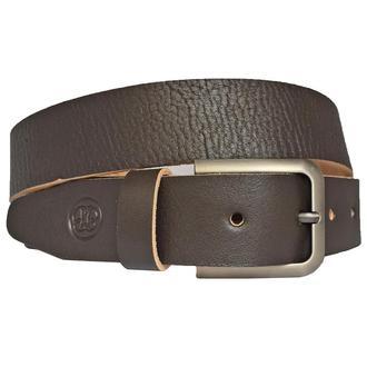 Ремень кожаный коричневый мужской под джинсы Kavaler2
