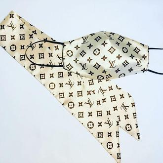 Маска комплект + платок твилли шёлк
