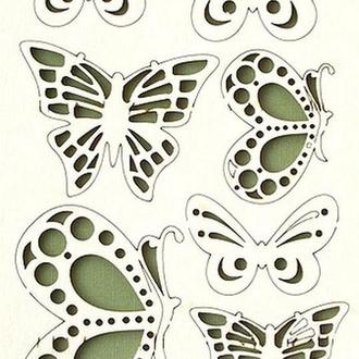 Чипборд Бабочки ажурные, 7 шт. 282