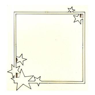Чипборд Рамка со звездами  8х8.6 см