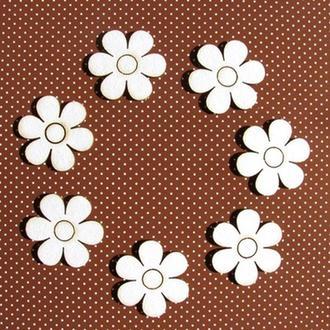 Чипборд Цветочки 8 шт. 2,8 см