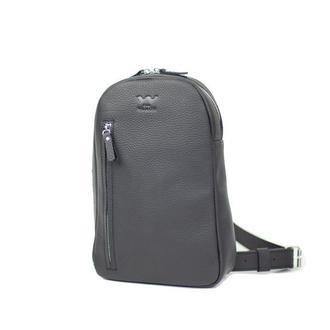 Мужская кожаная сумка Chest bag черная флотар