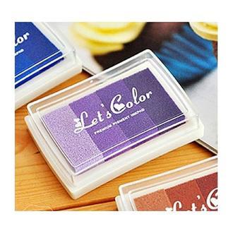 Штемпельная подушка 4 цвета, фиолетовые оттенки