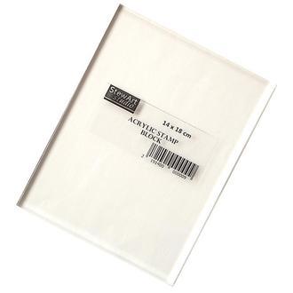 Блок акриловый для штампов 14 х 18 см
