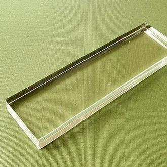 Блок акриловый для штампов, 3 х 10 см