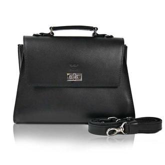Женская кожаная сумка Classic черная