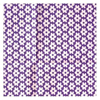 Ткань 49х49 см Сиреневая с белыми цветочками