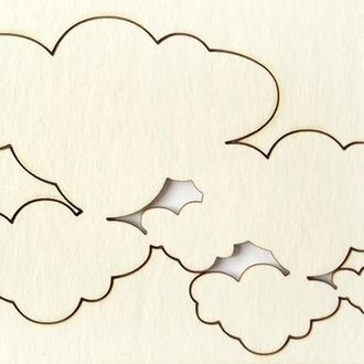 Чипборд Облака малые, 196