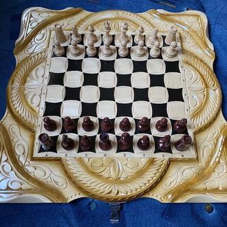 Шахматы-нарды-шашки 3 в 1 «Викинги»