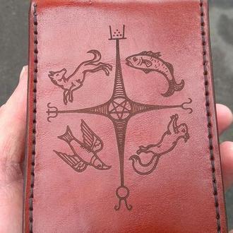 Кожаный чехол для карт Таро, метафорических карт