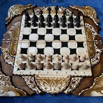 Шахматы - нарды - шашки комплект 3 в 1