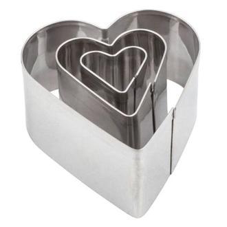 Набор каттеров для полимерной глины, сердце 3 шт
