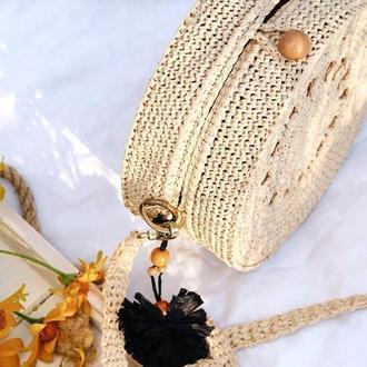 Плетенная сумка - Бали (Бежевая/Солома)