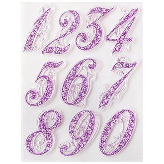 Набор силиконовых штампов Цифры для циферблатов, 14 х 18 см