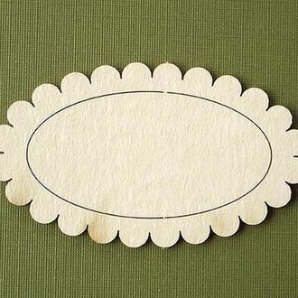 Чипборд Фигурная рамка овальная (5х7 см)  027/1
