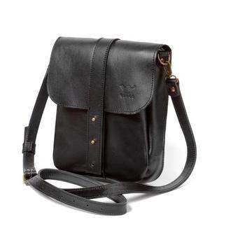 Мужская кожаная сумка Mini Bag черная