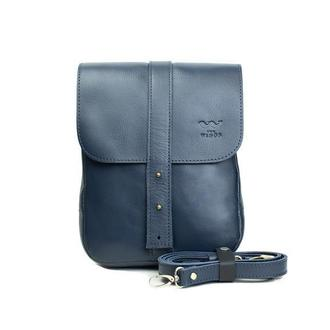 Мужская кожаная сумка Mini Bag синяя