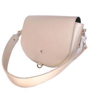 Женская кожаная сумка Ruby L бежевая